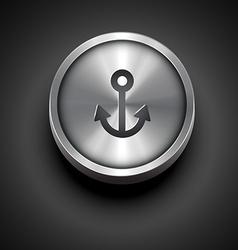 metallic anchor icon vector image