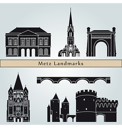metz landmarks and monuments vector image