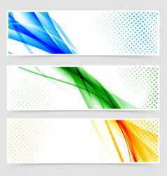 Modern colorful futuristic hi-tech header set vector