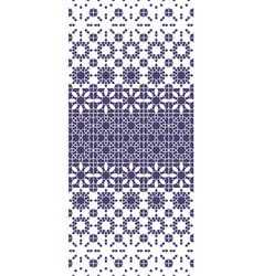 Morocco violet mosaic seamless pattern vector