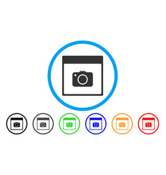 photo camera calendar page rounded icon vector image