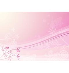 pink floral background vector image