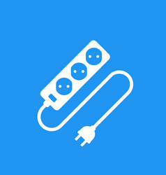 Power outlet with cable and plug icon vector