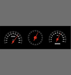 realistic speedometers pack isolated vector image
