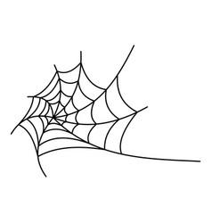 round spiderweb icon outline style vector image