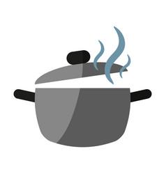 Saucepan flat shadow vector