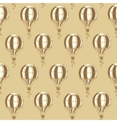 Seamless Pattern with Vintage Balloons vector