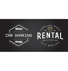 Set of Car Rental Service Elements can be used as vector
