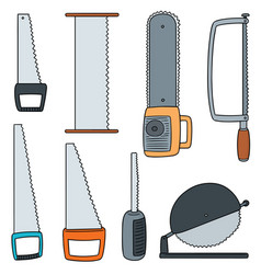 set of saw vector image