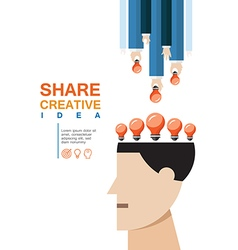 Share creative idea concept vector