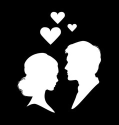 Silhouette of couple in love eps 10 vector