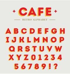 Simple branding alphabet vector image