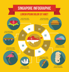 singapore infographic concept flat style vector image