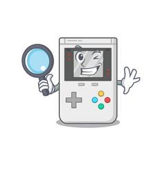 Smart handheld game scroll detective cartoon vector