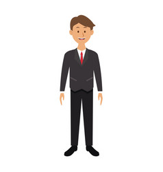 smiling man in suit clothes standing character vector image