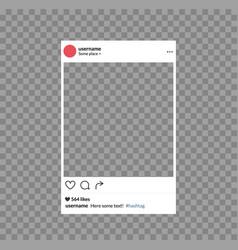 social network photo frame mobile template social vector image