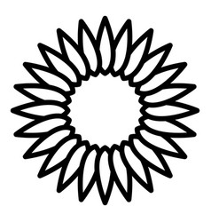 Sunflower inflorescence icon outline style vector