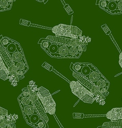 tank seamless pattern 23 february vector image