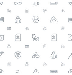 template icons pattern seamless white background vector image