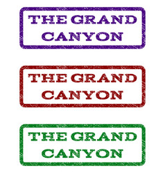 the grand canyon watermark stamp vector image