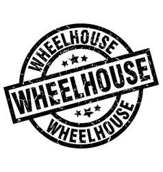 Wheelhouse round grunge black stamp vector