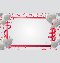white balloons festive background vector image