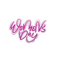 women day trendy gradient postcard design vector image