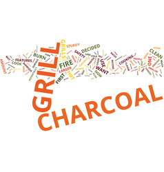Your first charcoal grill text background word vector