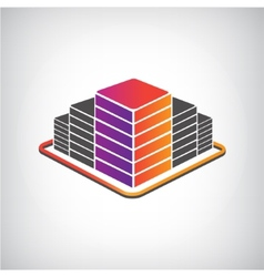3d building apartment offices icon vector image