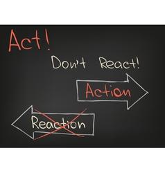 Act dont react vector