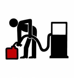 gas station symbol vector image vector image