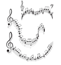 Music Two treble clefs and notes for your design vector image