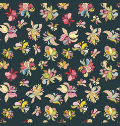 seamless flower pattern vector image vector image