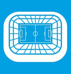 Stadium top view icon white vector