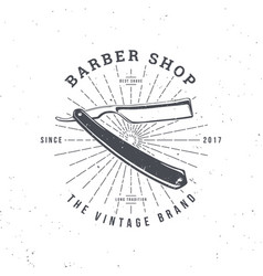 barber shop razor vector image vector image