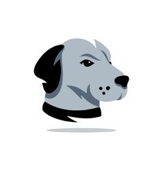 Dog Head of Rhodesian Ridgeback Cartoon vector image