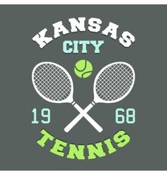 Kansas City Tennis t-shirt vector image