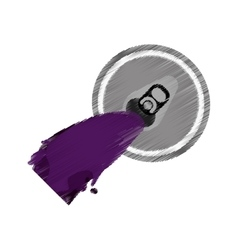 purple opener can soda beer icon vector image