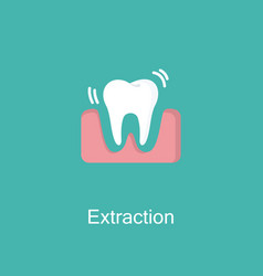 tooth extraction flat icon vector image vector image