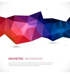 Abstract 3d geometric colorful background vector