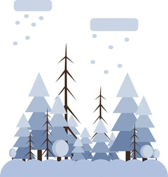 Abstract landscape design with white trees and clo vector image