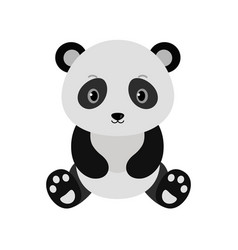 adorable panda in flat style vector image vector image