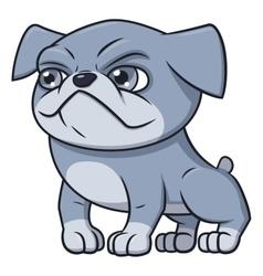 Bulldog puppy 2 vector image