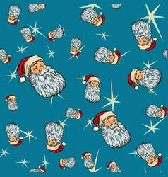 head santa claus christmas seamless background vector image