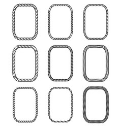 rope set of rectangular frames collection of vector image vector image