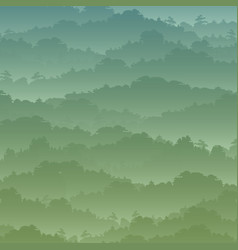 seamless background green mountain landscape in vector image