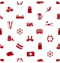 Switzerland country theme icons seamless pattern vector image vector image