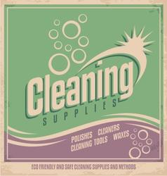 Vintage poster design for cleaning service vector image