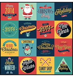 xmas set 3 vector image