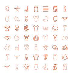 49 textile icons vector